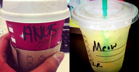 Starbucks barista's getting the name wrong on cups (26 Photos)