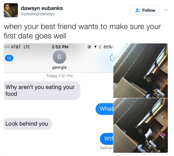 girl on first date gets unexpected wingman 4 photos 2 Girl on first date gets unexpected wingman (4 Photos)