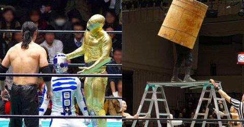 Japanese wrestling can be very strange (26 Photos)