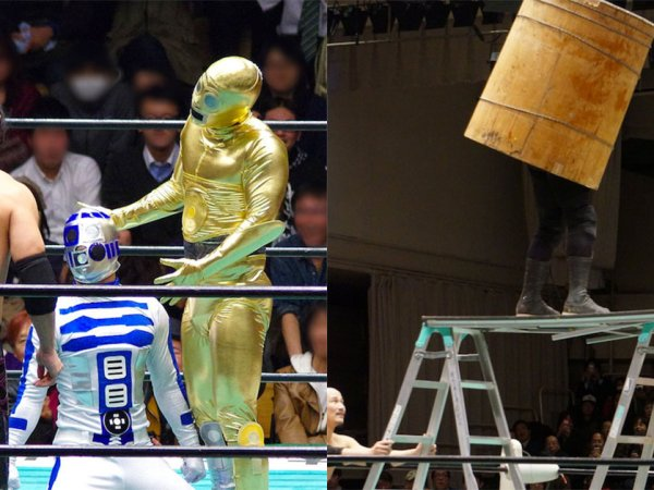 Japanese wrestling can be very strange (26 Photos)