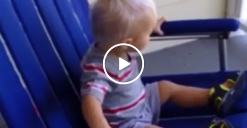 Toddler in rocking chair watches neighbors in drive-by fight (Video)