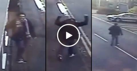 Camera catches heartwarming moment homeless man lands job (Video)