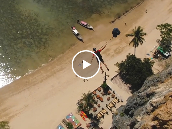 BASE Jumper slams into side of cliff (Video)