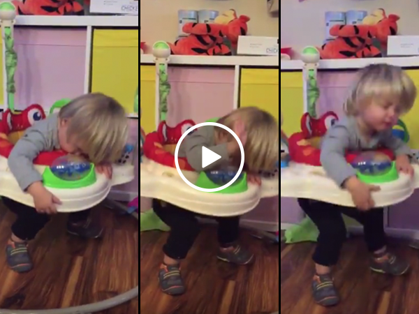Little boy can't help bouncing to song while trying to sleep (Video)