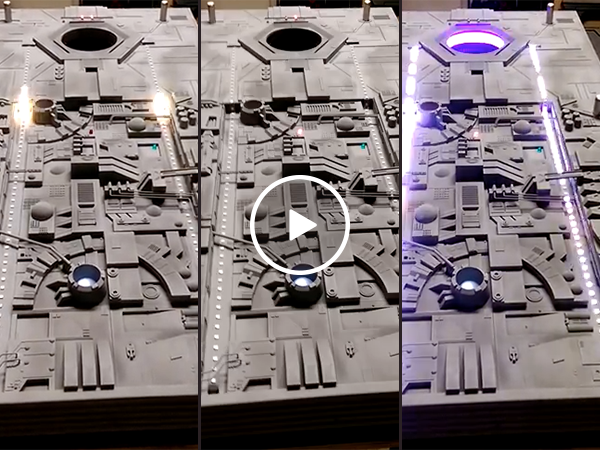 Death Star corn hole table is our only hope