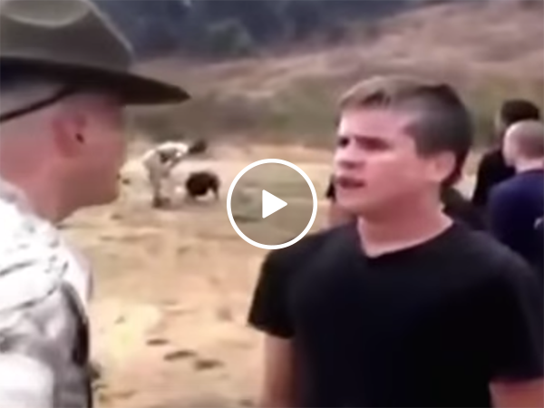 Drill Sergeant starts the Shooting Star meme (Video)