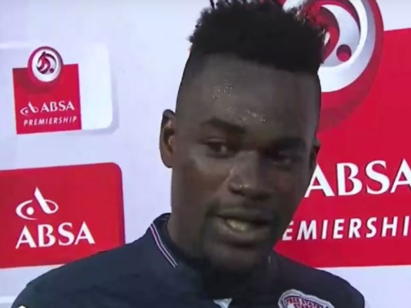 Ghanian footballer thanks wife and girlfriend in interview (9 Photos)
