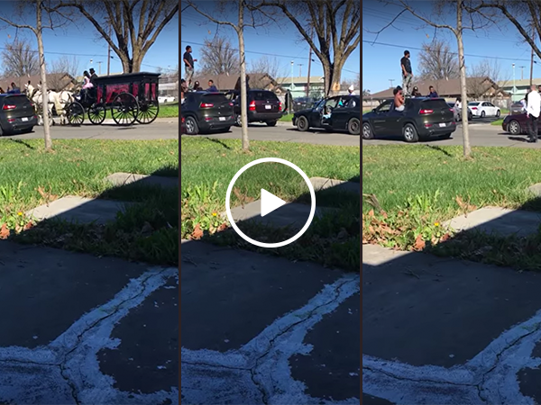 This looks like the most lit funeral procession ever (Video)
