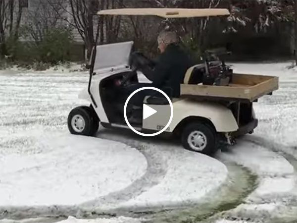 91-year-old Grandma drifts in golf cart (Video)
