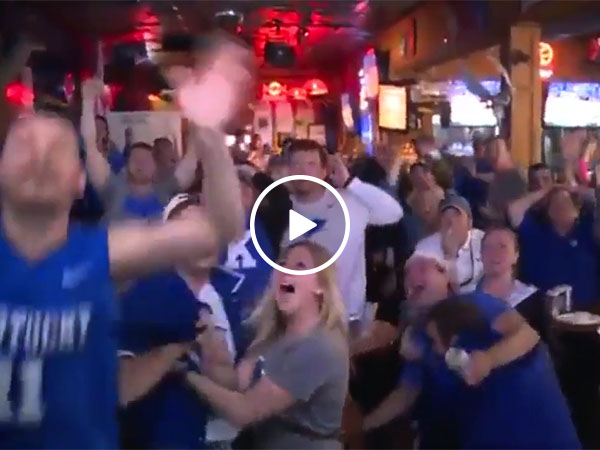 Kentucky fans go from pure joy to complete sadness in 2 seconds