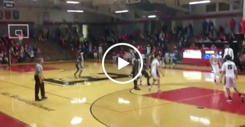 Kid hits full court buzzer beater to win game (Video)