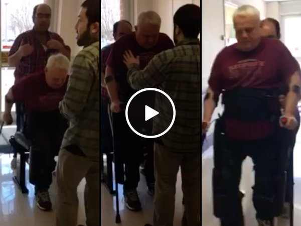Veteran walks again for first time in 33-Years (Video)