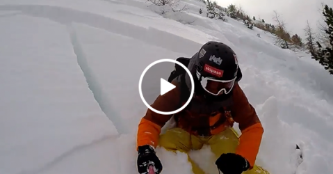 Skier survives gnarly avalanche