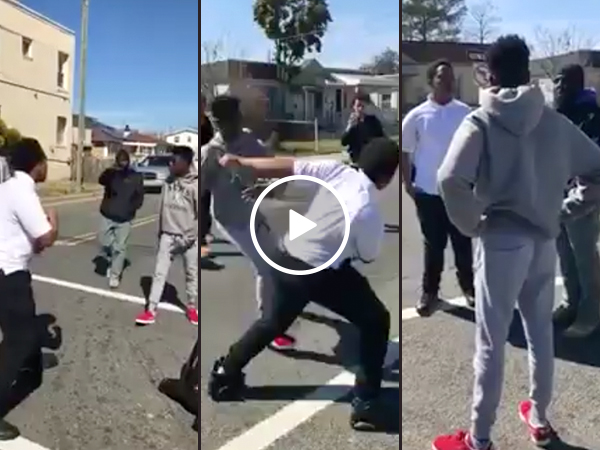 Man stops young kids fighting in the street, gives sage advice (Video)