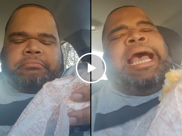 Guy sings about his chicken biscuit (Video)