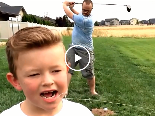 Little boy has some creative ways to pull his teeth (Video)