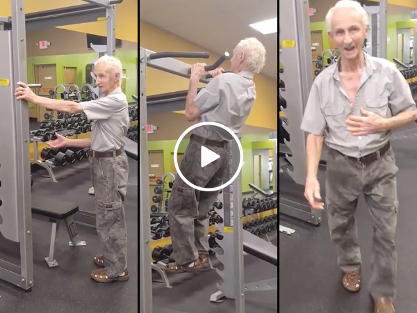 90 year old grandpa does 24 pulls ups (Video)