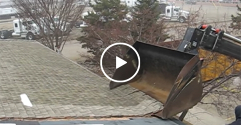 Peeling a roof off of a house is oddly satisfying to watch