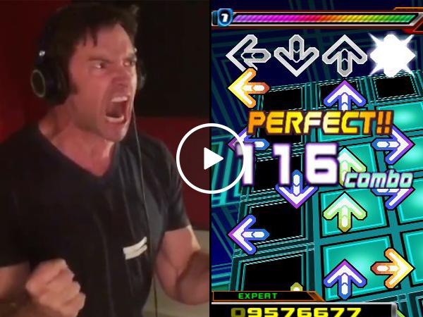 Wolverine plays Dance Dance Revolution (Video)