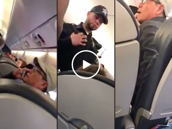 "New footage of ""belligerent"" United passenger surfaces (Video)"