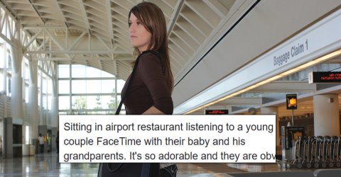 Woman surprised to find target of couple's loving Facetime (9 Photos)