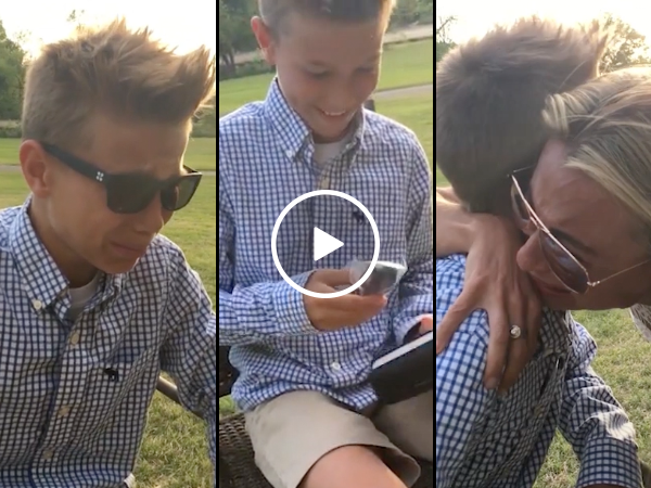 Emotional boy sees color for the first time (Video)