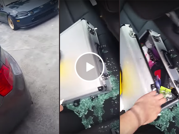 Thief smashes car window but leaves sex toy briefcase behind (Video)