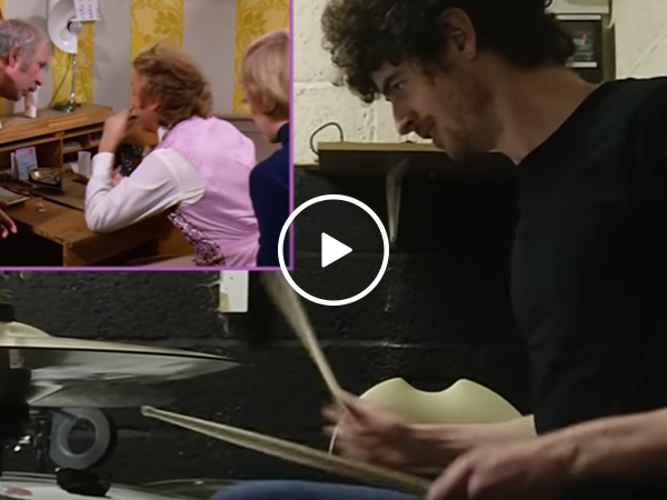 Awesome drummer adds beat to the end of Willy Wonka (Video)