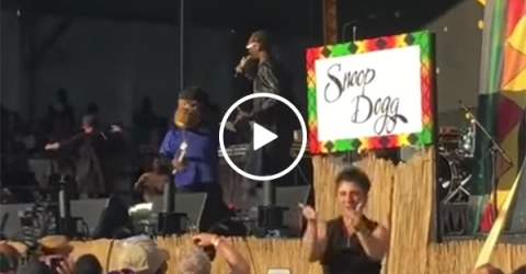 Snoop Dogg performs with a sign language interpreter (Video)
