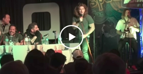 Comedian gets kicked off the stage