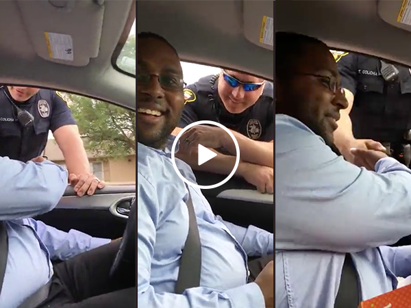 Guy gets pulled over by cop for pregnancy announcement (Video)