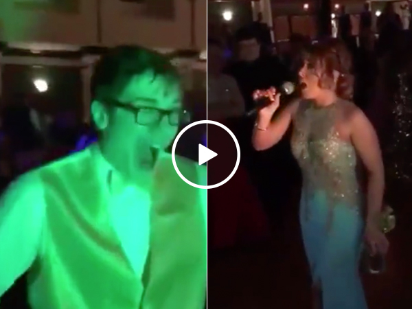 Girl calls out cheating boyfriend in front of entire Prom (Video)