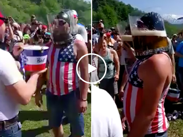 Guy chugs his way out of certain death, is 'Murcia amplified (Video)