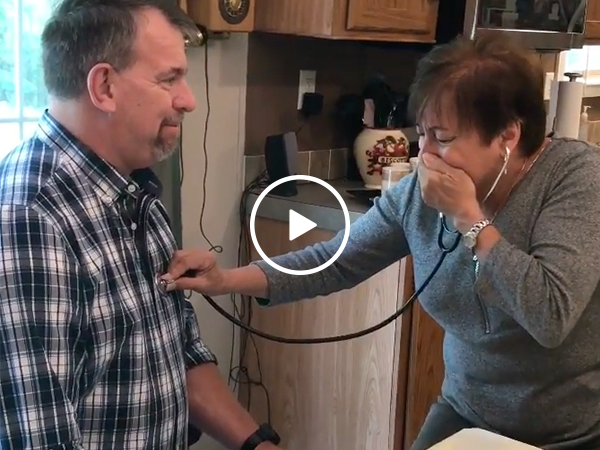 Mother hears son's heart beat in donor recipient (Video)