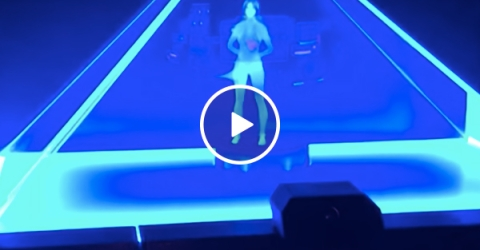 Guy creates hologram in his home