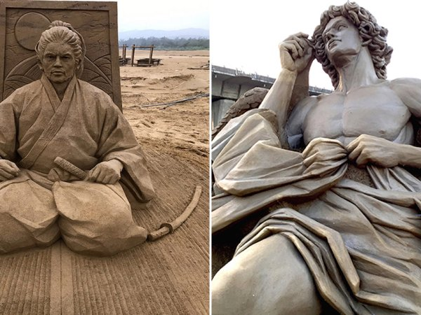 Toshihiko Hosaka's incredible sand sculptures (23 Photos)