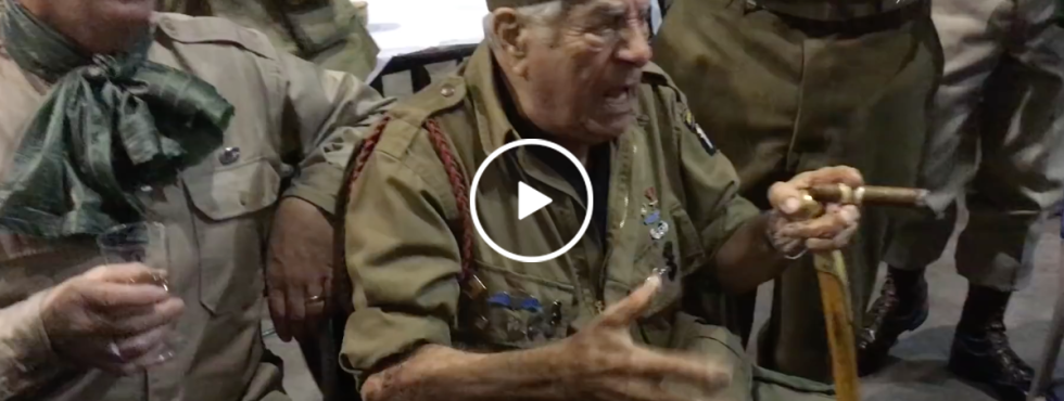 This WWII veteren leading 'Blood on the Risers' will kick start your Day (Video)
