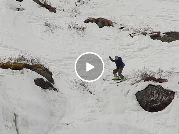 Skier falls head over heels down the mountain