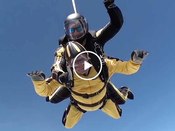 D-Day hero becomes world's oldest tandem skydiver (Video)