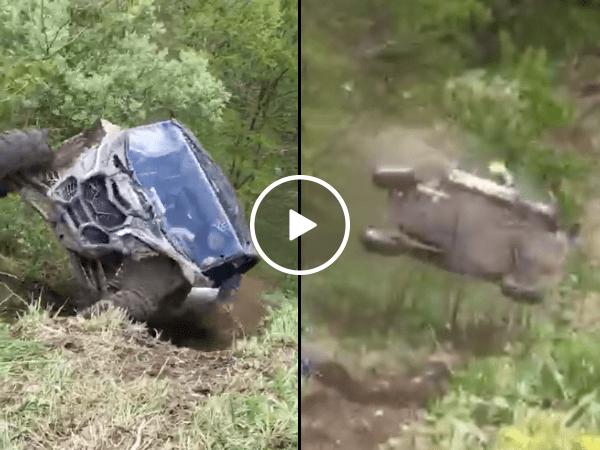UTV hill climb goes horribly wrong (Video)