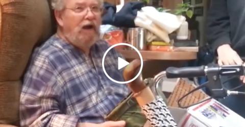 Vietnam war vet reunited with his helmet he lost in nam (Video)