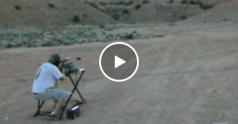 Guy takes .50 cal ricochet to the head (Video)