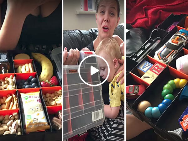 Man buys toolbox for his baby's lunchbox (Video)