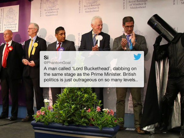 Lord Buckethead is a very strange UK politician (13 Photos)