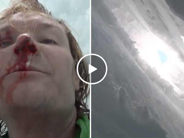 Injured guy escapes certain death after falling into a crevasse (Video)