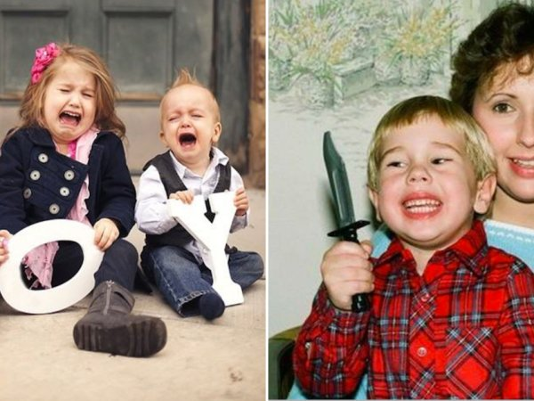 Kids ruining family photos are the best (26 Photos)