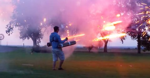Fireworks illuminate man's capacity for both greatness and ignorance (16 GIFs)