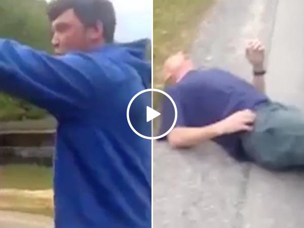 Son punches mother's boyfriend