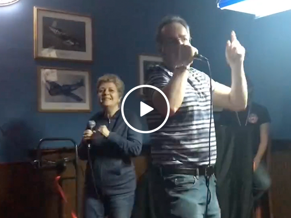 Older couple nails Like a G6 Karaoke (Video)
