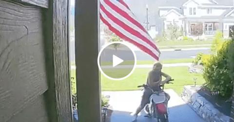 Camera captures boy reciting Pledge of Allegiance (Video)
